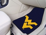 West Virginia University Carpet Car Mat 2 Pc 18'' x 27'' [5511-FS-FAN]