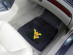 West Virginia University Heavy Duty 2-Piece Vinyl Car Mats 18'' x 27'' [8924-FS-FAN]