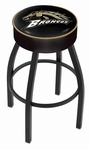 Western Michigan University 25'' Black Wrinkle Finish Swivel Backless Counter Height Stool with 4'' Thick Seat [L8B125WESTMI-FS-HOB]