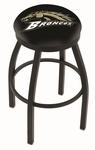 Western Michigan University 25'' Black Wrinkle Finish Swivel Backless Counter Height Stool with Accent Ring [L8B2B25WESTMI-FS-HOB]