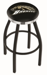 Western Michigan University 25'' Black Wrinkle Finish Swivel Backless Counter Height Stool with Chrome Accent Ring [L8B2C25WESTMI-FS-HOB]