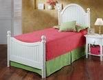 Westfield Wood Post Bed Set with Rails - Twin - Off White [1354BTWR-FS-HILL]