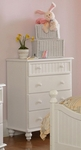 Westfield Classic Wood 54.5''W x 47.5''H Cottage Style Chest - Off White [1354-784-FS-HILL]