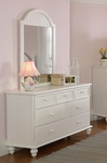 Westfield Classic Wood 30''W x 44''H Cottage Style Dresser - Off White [1354-716-FS-HILL]