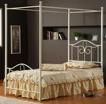 Westfield Metal Canopy Bed Set with Rails - Full - Off White [1354BFPR-FS-HILL]