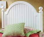 Westfield Wood Post Headboard with Rails - Full - Off White [1354HFR-FS-HILL]