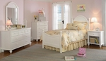 Westfield 5 Piece Wood Bedroom Group Includes Bed, Nightstand, Dresser, Mirror, and Chest - Full - Off White [1354F5SET-FS-HILL]