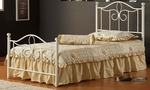 Westfield Metal Bed Set with Rails - Full - Off White [1354BFMR-FS-HILL]