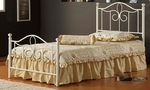 Westfield Metal Bed Set with Rails - Twin - Off White [1354BTWMR-FS-HILL]
