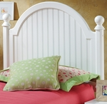 Westfield Wood Post Headboard with Rails - Twin - Off White [1354HTWR-FS-HILL]