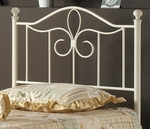 Westfield Metal Headboard with Rails - Twin - Off White [1354HTWMR-FS-HILL]
