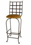 Westminster 24''H Wrought Iron Barstool with Upholstered Seat [GMC-SWB24-W-FS-GCM]
