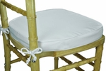 Legacy Series 2''H Foam Chiavari Chair Cushion with 12'' Ties - White [121401-MES]