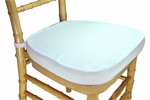 Legacy Series 2'' Thick Chiavari Chair Cushion with Velcro Tabs - White [121101-MES]