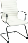 OSP Furniture Eco Leather Visitor Chair - White [74523-FS-OS]