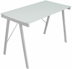 Exponent Office Desk in White [OFD-TM-PBLNK-W-FS-LUMI]