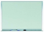 White Melamine Marker board with Aluminum Frame Size 18''H x 24''W [WAC1824-AA]