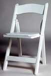 Waterproof White Resin Folding Chair - 15.5''W X 14''D X 35''H [ASRES-WHT-AS]