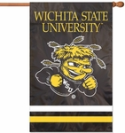 Wichita State Shockers Applique Banner Flag [AFWSU-FS-PAI]