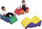 Wide Infant Toddler Soft Cars - 23''L x 12''W x 10''H [CF332-487-FS-CHF]