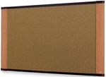 Wide Screen Graphite Blend Colored Cork Board w/Light Cherry Finish Aluminum Frame 72''W x 48''H [C7248LC-FS-TM]