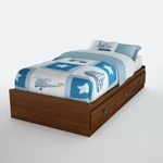 Willow Collection Cherry Twin Mates Bed [3356212-FS-SS]