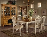 Wilshire 5 Piece Dining Set with Rectangular Extension Table and 4 Side Chairs - Antique White [4508DTBRCTC5-FS-HILL]