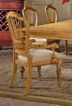 Wilshire Wood 19''H Dining Arm Chair with Upholstered Seat - Set of 2 - Antique Pine [4507-805-FS-HILL]