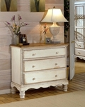 Wilshire Solid Wood 42''W x 53''H Bedside Chest - Antique White [1172-772-FS-HILL]