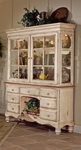 Wilshire Wood 63.25''W x 79.75''H Buffet and Hutch Set with Multiple Storage - Antique White [4508BH-FS-HILL]