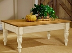 Wilshire Wood 48''W x 19''H Cocktail Table with Carved Legs - Antique White [4508-881-FS-HILL]