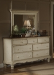 Wilshire Solid Wood 50''W x 38.5''H Dresser - Antique White [1172-717-FS-HILL]