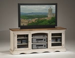 Wilshire Wood 66''W x 28''H Entertainment Console with 9 Storage Shelves - Antique White [4508-880-FS-HILL]