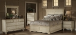 Wilshire 5 Piece Solid Wood Bedroom Group Includes Panel Storage Bed, Nightstand, Dresser, Mirror, and Chest - King - Antique White [1172STGBKRSET5-FS-HILL]