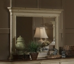 Wilshire Solid Wood 30''W x 38.24''H Mirror - Antique White [1172-721-FS-HILL]