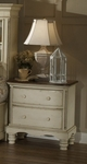 Wilshire Solid Wood 42.25''W x 37''H Nightstand - Antique White [1172-771-FS-HILL]