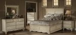 Wilshire 5 Piece Solid Wood Bedroom Group Includes Panel Storage Bed, Nightstand, Dresser, Mirror, and Chest - Queen - Antique White [1172STGBQRSET5-FS-HILL]
