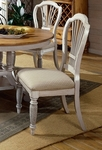 Wilshire Wood 19''H Dining Side Chair with Upholstered Seat - Set of 2 - Antique White [4508-802-FS-HILL]