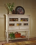 Wilshire Wood 18''W x 64''H Sideboard Cabinet with Multiple Storage - Antique White [4508-855-FS-HILL]