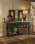 Wilshire Wood 18''W x 60''H Sideboard with Multiple Storage - Rubbed Black [4509SB-FS-HILL]