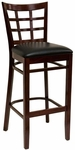 Window Back Barstool - Grade 4 Vinyl [523-BS-GR4-SAT]
