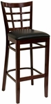 Window Back Barstool - Grade 5 Vinyl [523-BS-GR5-SAT]