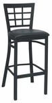 Window Back Metal Barstool - Grade 5 Vinyl [85-BS-GR5-SAT]