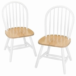 Windsor Chair in White-Set of 2 [53999-FS-WWT]