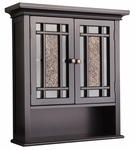 Windsor Wall Cabinet with 2 Doors and 1 Shelf in Dark Espresso [ELG-532-FS-EHF]