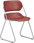 Martisa Armless Plastic Stack Chair - Wine Seat with Silver Frame [202-SLVR-WINE-MFO]