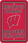 Wisconsin Badgers 12'' X 18'' Plastic Parking Sign [50275-FS-BSI]