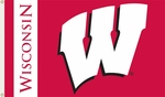 Wisconsin Badgers 3' X 5' Flag with Grommets [95020-FS-BSI]