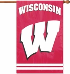 Wisconsin Badgers Applique Banner Flag [AFWIS-FS-PAI]