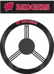 Wisconsin Badgers Poly-Suede Steering Wheel Cover [58575-FS-BSI]